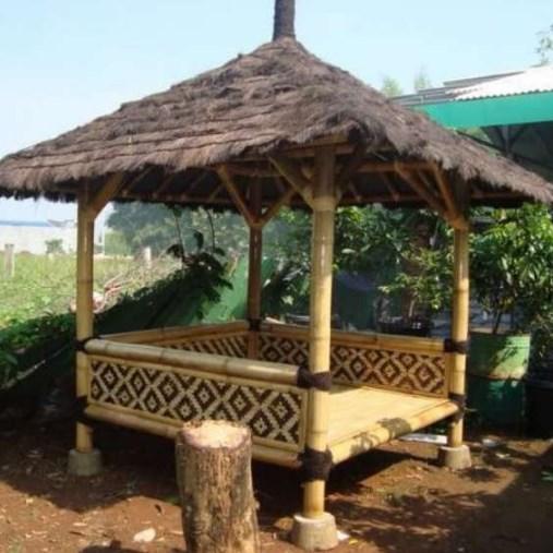 Jual Saung Bambu atau Gazebo Bambu Ukuran 2 x 2 meter
